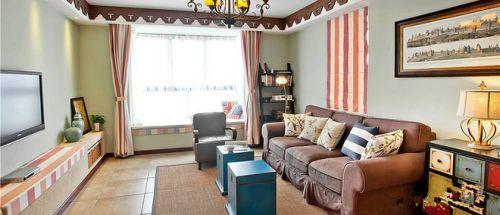 宜家风格清新绿色客厅装修欣赏