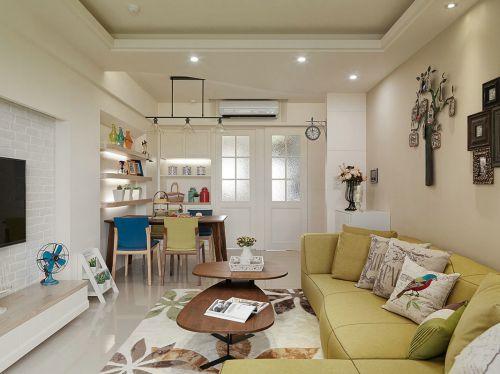 米色宜家风格温馨客厅装修案例