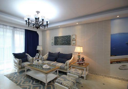 清新简欧沙发背景墙美图