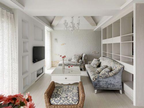 简欧白色时尚客厅设计图