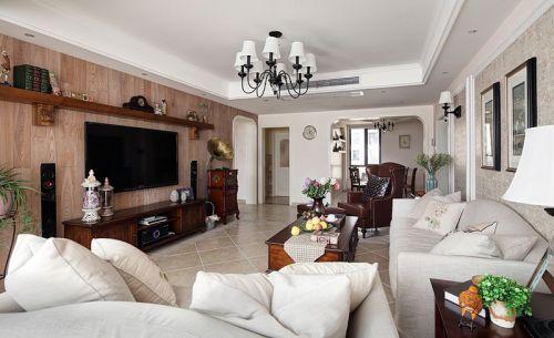 米色简欧风格客厅设计装潢