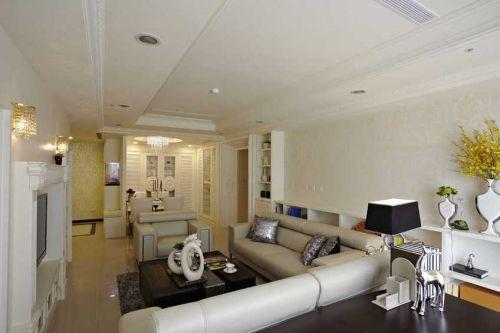 简欧风格米色客厅设计效果图欣赏