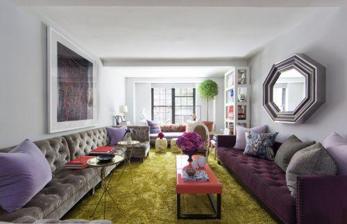 雅致淡雅浪漫简欧风格客厅装潢赏析