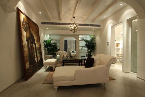 文艺精美简欧风格客厅设计装潢