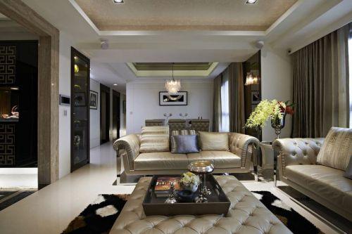 米色简欧风格客厅沙发图片赏析