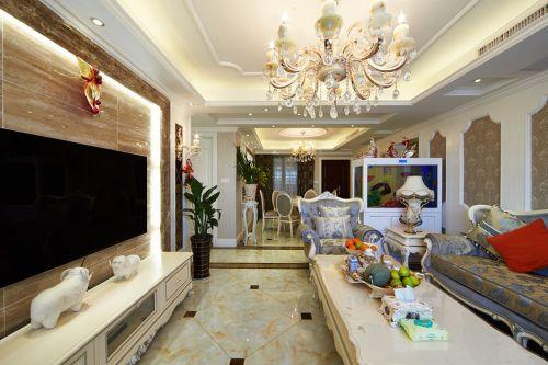 精致时尚简欧风格客厅装潢欣赏