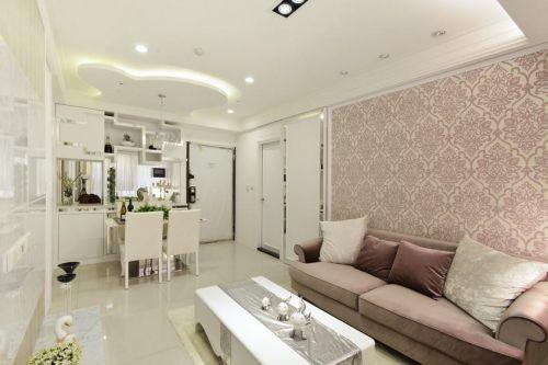 雅致米色简欧风格客厅装潢案例