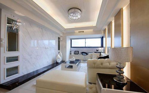 华丽白色简欧客厅装修案例