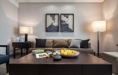 雅致中式新古典风格黑色客厅装潢