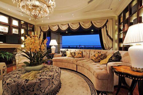 复古雅致新古典风格客厅装潢美图