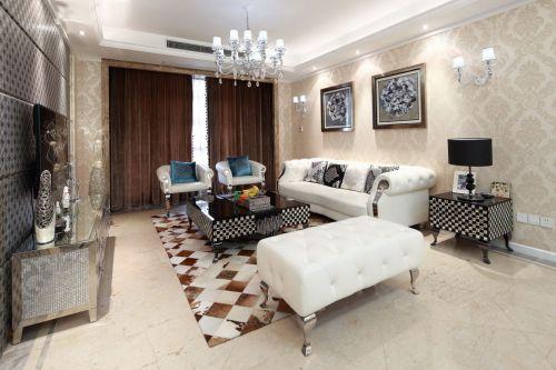 米色新古典风格客厅美图
