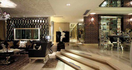 优雅高端新古典风格客厅整体设计图片