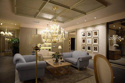 简欧典雅客厅装修案例欣赏