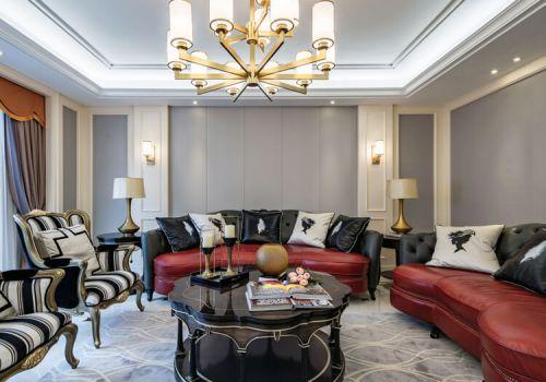 灰色新古典沙发背景墙欣赏