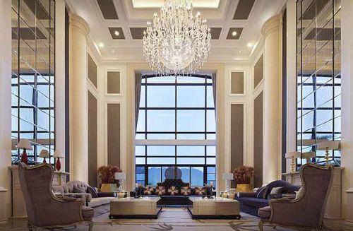 高雅新古典主义风格客厅设计效果图