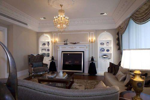 温馨简欧风格客厅装潢设计