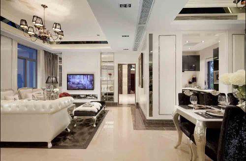 白色系新古典客厅装修风格欣赏