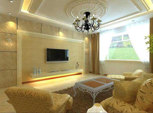 优雅气质简欧温馨客厅设计
