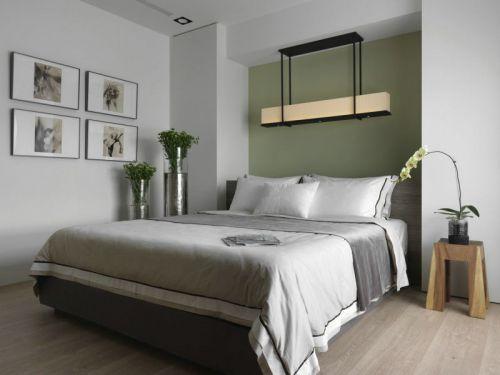绿色新古典卧室2016装潢案例
