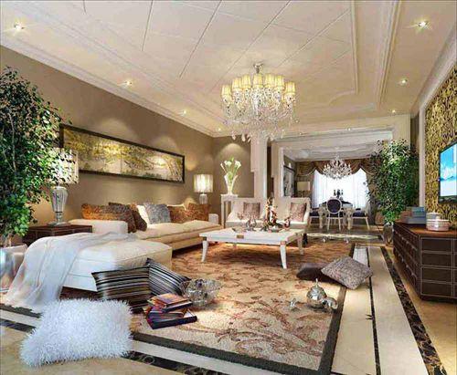 简欧风格温暖暖客厅装修欣赏