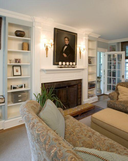 欧式文艺雅致风格客厅装潢案例
