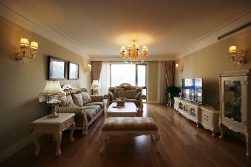 优雅浪漫简欧客厅装潢案例
