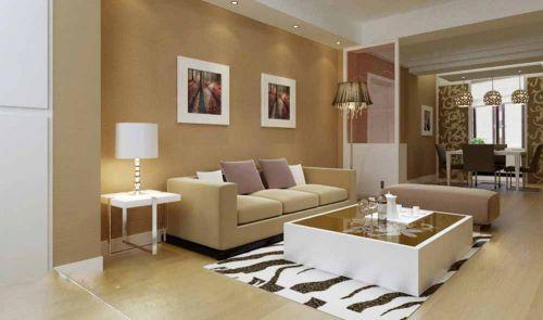 简欧柔和风格客厅装修效果图