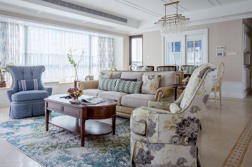 白色精致魅力简欧风格客厅装潢案例