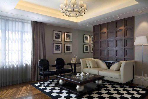优雅前卫新古典风格客厅个性设计