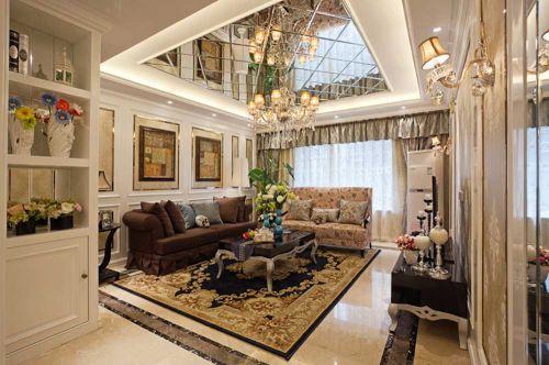 新古典黄色优雅客厅图赏
