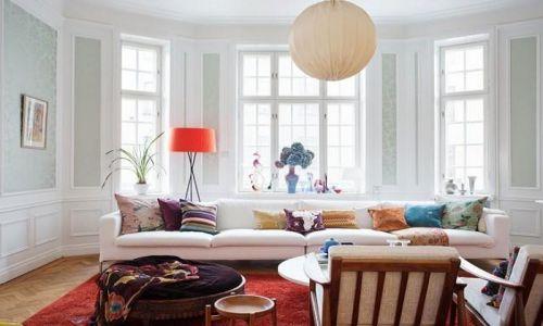 简欧风清新白色客厅效果图设计