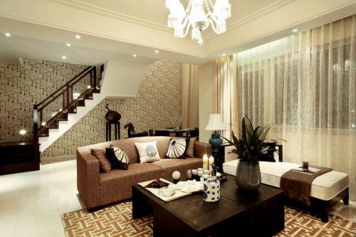 精致时尚新古典风格客厅装饰设计图片