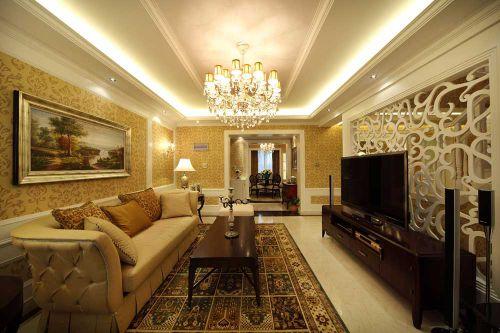 新古典精致时尚客厅装修效果图