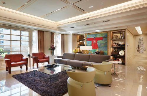 2016米色新古典客厅装饰设计图片