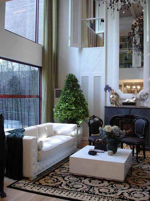 2016新古典风格别墅客厅装修设计案例