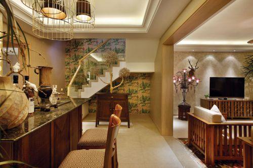 东南亚风格客厅过道设计图