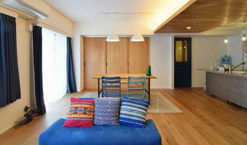 黄色东南亚风格客厅装修案例
