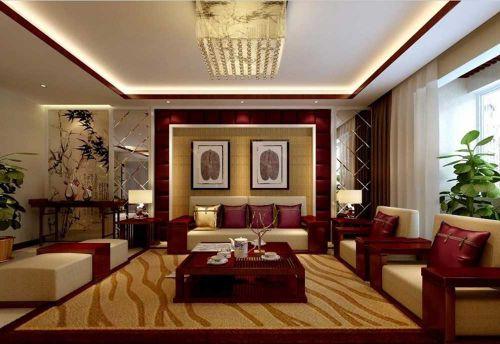 热情洋溢新古典风格客厅装修效果