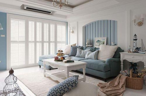 绿色东南亚风格客厅装饰图