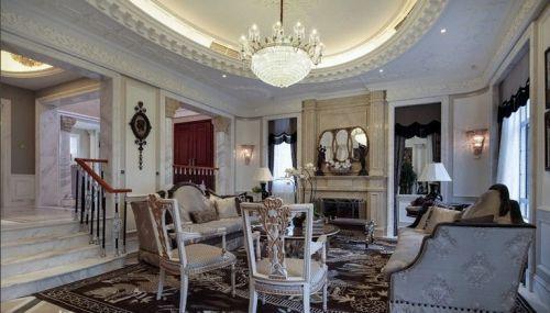 米色新古典客厅设计装修