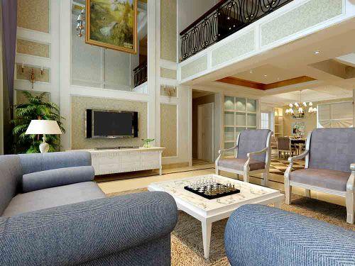 新古典主义风格灰色系客厅设计