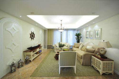 东南亚风格绿色客厅设计图片