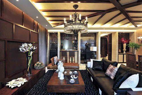 东南亚客厅装修案例欣赏