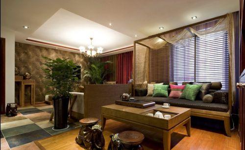 东南亚风格质感黄色客厅美图欣赏