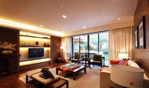 橙色个性新古典风格客厅装修案例