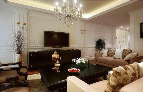 新古典白色大气客厅设计装饰
