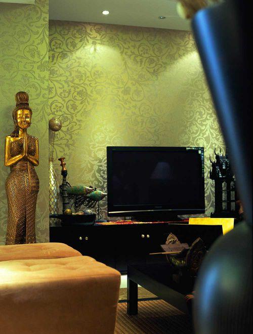 2016时尚东南亚客厅装修效果图