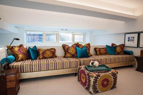 米色东南亚客厅装修效果图