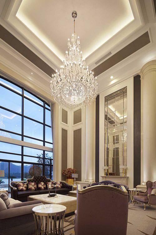 华丽大方新古典客厅设计图