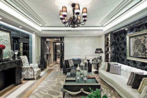 新古典时尚质感客厅设计装潢